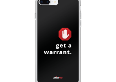 Get a Warrant Iphone cover